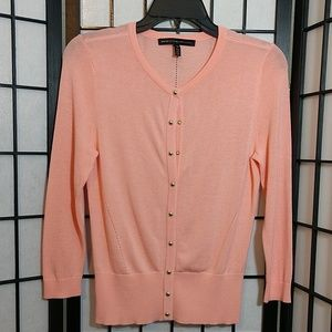 New Lightweight Peach WHBM Cardigan sz XS